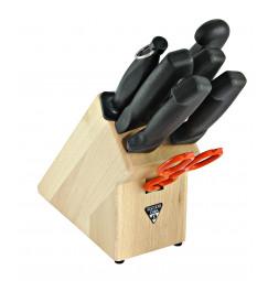 Zestaw noży domowych w bloku - Aesculap Chifa